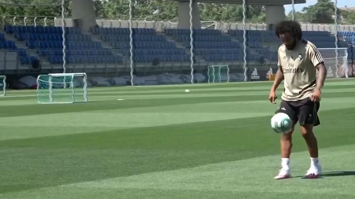 El Real Madrid se entrena tras dejar encaminada LaLiga en Granada
