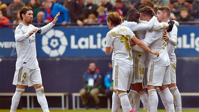 El Real Madrid se quita un peso de encima con la victoria en El Sadar