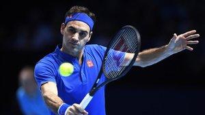 Roger Federer en la semifinal del torneo ATP