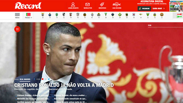 Ronaldo quiere abandonar el Real Madrid en julio