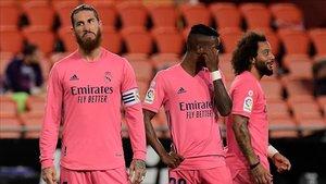 Sergio Ramos y sus compañeros sufrieron un varapalo en Valencia