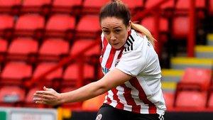 Sophie Jones vistiendo la camiseta del Sheffield United, su último club