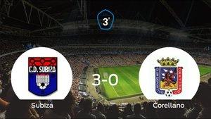 El Subiza se lleva el triunfo tras golear 3-0 al Corellano