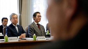 Takeda asiste a una reunión del consejo en Tokio