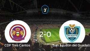 El Tres Cantos venció 2-0 en su estadio ante el San Agustin del Guadalix