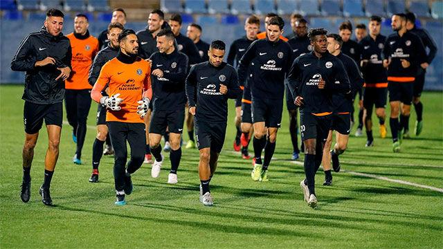 Último entrenamiento del Ibiza antes del encuentro ante el Barça