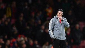 Unai Emery, durante la derrota ante el Eintracht