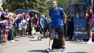 Valverde y sus jugadores viajarán un día antes par el Eibar-Barça