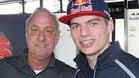 Verstappen, junto a Johan Cruyff