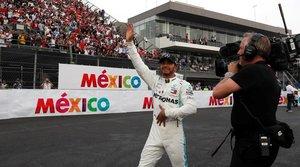 Hamilton ganó en México