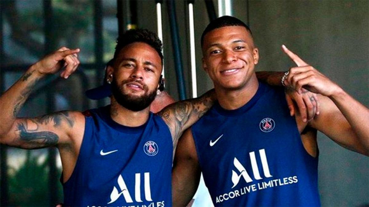 Mbappé y Neymar comparten optimismo antes de la cita ante el Atalanta