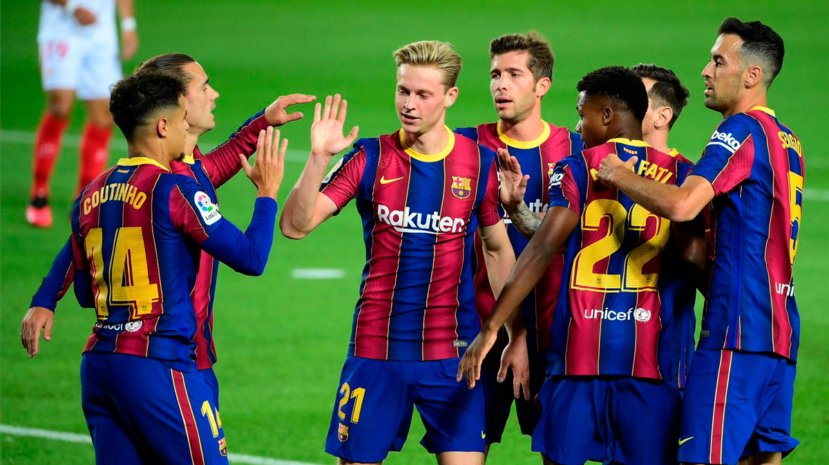 El 1x1 del Barça ante del Sevilla