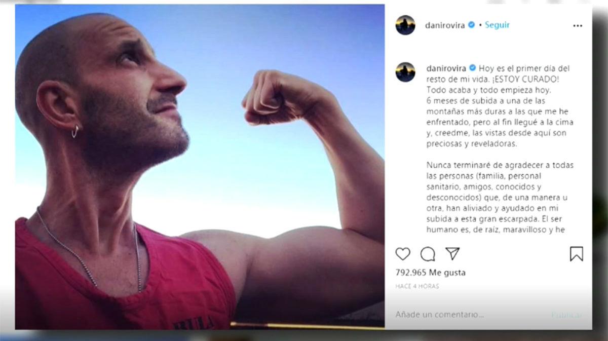 El actor Dani Rovira anuncia que se ha curado de cáncer