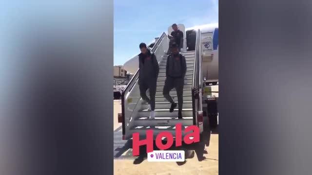 Así aterrizó el FC Barcelona en Valencia