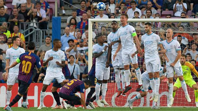 Así narró la radio el gol de Messi ante el PSV