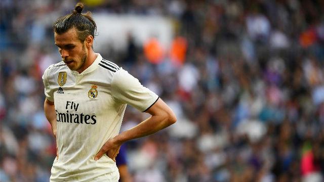 Bale pudo adelantar a los blancos con este potente chut que terminó en el travesaño