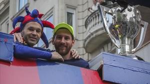 El Barça de Messi e Iniesta, campeón de Liga 2017 - 2018