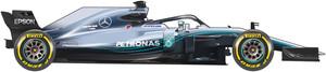 El coche de Mercedes para el Mudial de F1 de 2018