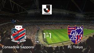 El Consadole Sapporo y el FC Tokyo empatan a 1 en el Sapporo Dome