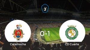 El CD Cuarte derrota 0-1 al Calamocha y se lleva los tres puntos