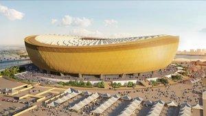 Diseño del estadio de Lusail, que acogería el partido inaugural y la final del Mundial de Catar 2022