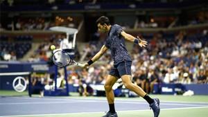 Djokovic, en una acción durante el partido
