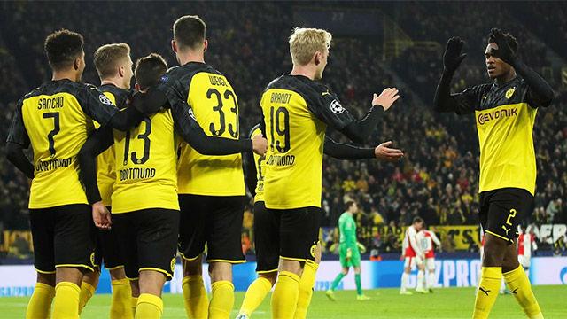 El Dortmund sufrió para ganar al Slavia y meterse en octavos