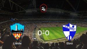 El Ebro consigue un empate a cero frente al Lleida Esportiu