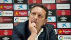 Eusebio durante la rueda de prensa de su presentación como nuevo técnico