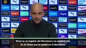 Guardiola: Mi deseo es que Messi se quede en el Barcelona