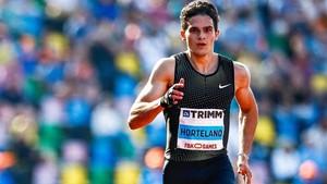 Hortelano ha reaparecido con éxito en los 200 metros