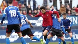 Imagen del partido de la liga pasada entre Osasuna y Reus