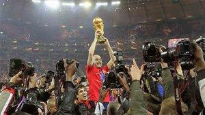 Iniesta fue el gran protagonista del Mundial que conquistó España en Sudafrica