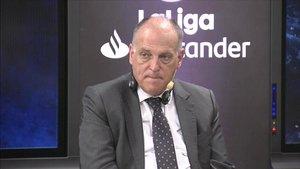 Javier Tebas, presidente de LaLIga, asegura que Messi no jugará en la Serie A