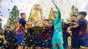 El Juvenil B del Barça celebró su segundo The Cup