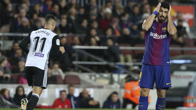 LACOPA | FC Barcelona - Valencia (1-0): Suárez pudo adelantar al Barça con esta ocasión
