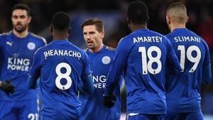 El Leicester pasa de ronda gracias a los goles de Iheanacho