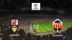 El Logroñésy el Castellónse reparten los puntos en el Estadio Las Gaunas (1-1)