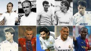10 de los 29 futbolistas que han vestido las camisetas de Barça y Real Madrid