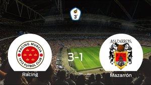 Los tres puntos se quedan en casa: Racing Murcia 3-1 Mazarrón FC