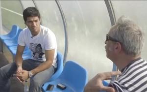Luis Suárez, durante su entrevista a The Guardian
