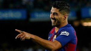 Luis Suárez está a 5 goles de la marca de Samitier y a 15 de la de Kubala