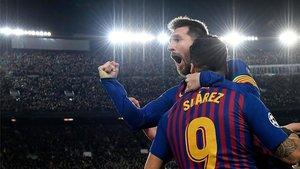 Messi y Luis Suárez, listos para eliminar al Liverpool