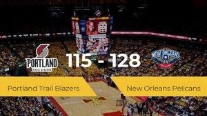 New Orleans Pelicans se hace con la victoria en el Moda Center contra Portland Trail Blazers por 115-128