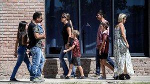 Niños con la camiseta de San Martín de Progreso, club donde Emiliano inició