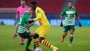 Ousmane Dembélé transformó un penalti que pasará a la historia