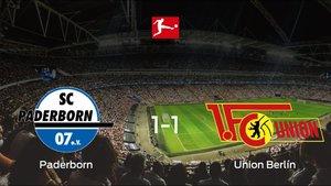 El Paderborny el Union Berlínse reparten los puntos en el Benteler-Arena (1-1)