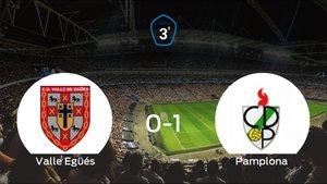 El Pamplona vence 0-1 en el estadio del Valle Egüés