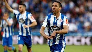 Pedro Sánchez marcó un tanto en el triunfo que dio al Dépor el billete al play-off