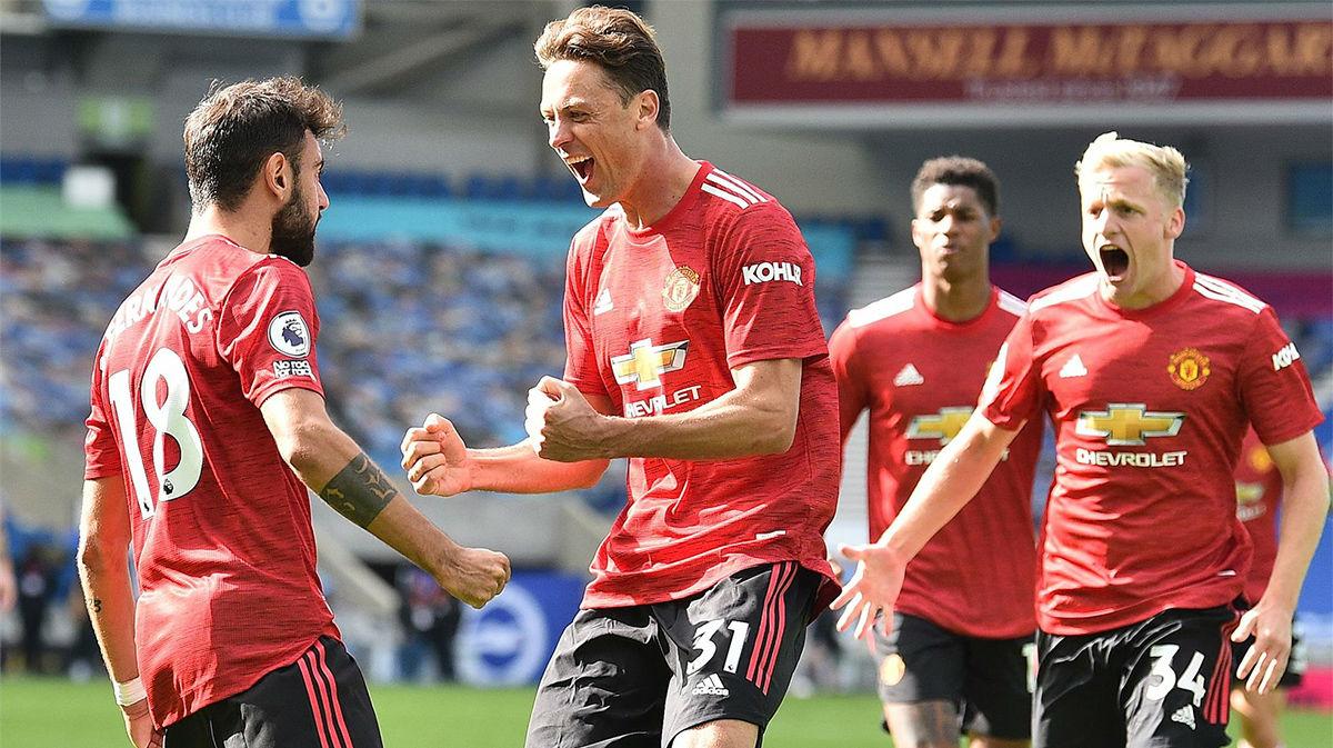 Polémica victoria del Manchester United sobre el Brighton (2-3)
